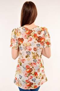 Блуза летняя с цветочным принтом И4886