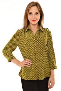 Рубашка с принтом с коротким рукавом Л4138