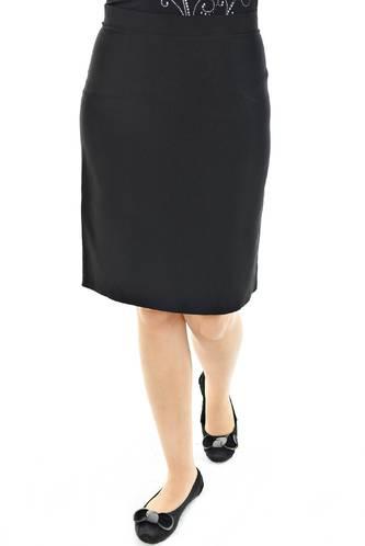 Юбка миди черная офисная Н8110
