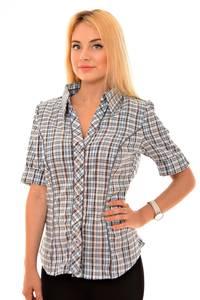 Рубашка в клетку с коротким рукавом К6187