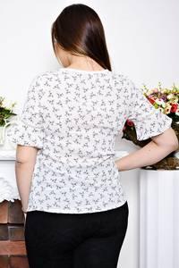 Блуза белая с коротким рукавом Р6953