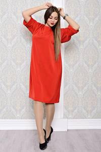 Платье длинное вечернее красное С8132