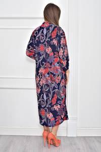 Платье длинное с принтом повседневное Ф0282
