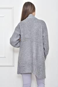 Кардиган вязаный серый Ф0156