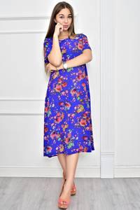 Платье длинное нарядное с принтом Ф0283