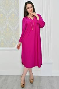 Платье длинное зимнее красное Р0490