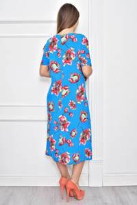 Платье длинное нарядное с принтом Ф0284