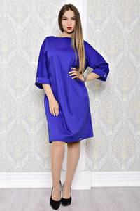 Платье короткое вечернее синее С8134