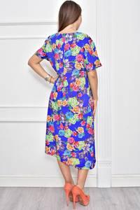 Платье длинное нарядное с принтом Ф0285