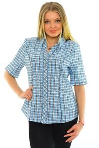 Рубашка синяя в клетку М5600