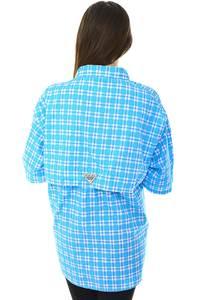 Рубашка в клетку с коротким рукавом Н6790