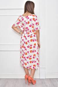 Платье длинное нарядное с принтом Ф0286