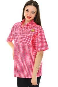 Рубашка в клетку с коротким рукавом Н6791