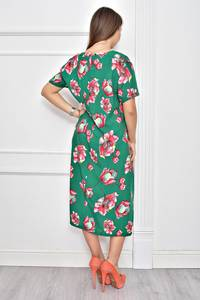 Платье длинное нарядное с принтом Ф0287