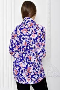 Рубашка синяя с принтом Т1897