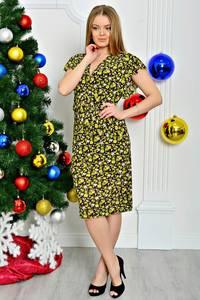 Платье длинное летнее с коротким рукавом П7948