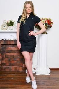 Платье короткое классическое черное Р7650