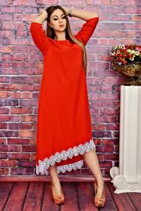 Платье длинное вечернее красное Т4170