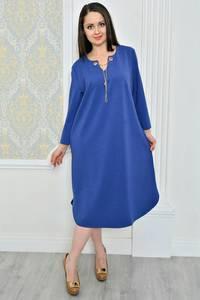 Платье длинное вечернее синее Р0495