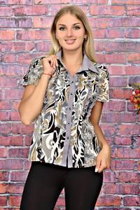 Рубашка с коротким рукавом с принтом Т5950