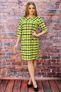Платье короткое с принтом желтое П5743