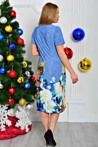 Платье длинное с принтом с коротким рукавом П7949