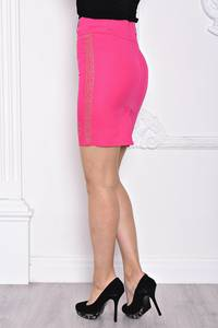 Юбка карандаш розовая С9720