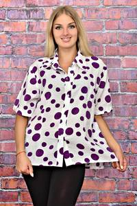 Рубашка белая с принтом Т5952
