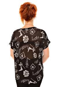 Блуза черная нарядная К8391