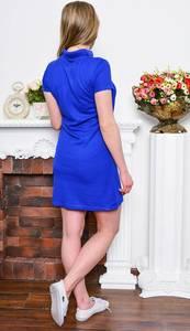 Платье короткое классическое синее Р7653