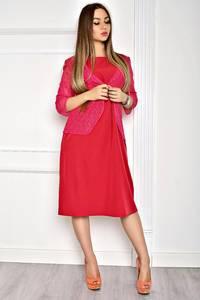 Платье длинное вечернее красное Т2053