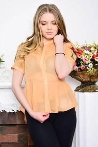 Рубашка прозрачная с коротким рукавом Р5278