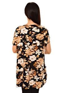 Блуза черная нарядная К8739