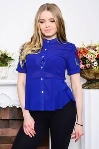 Рубашка синяя с коротким рукавом Р5280