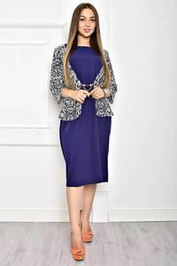 Платье длинное синее вечернее Т2056