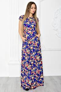 Платье длинное летнее с принтом Т1834