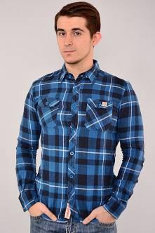 Рубашка N-13029(син.)