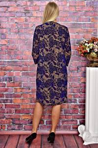 Платье короткое деловое с принтом Т5957