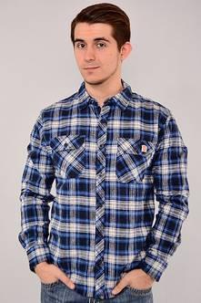 Рубашка N-13029(син.+сер.)