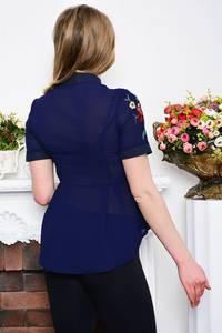 Рубашка синяя с коротким рукавом Р5282