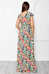 Платье длинное летнее с принтом Т1835