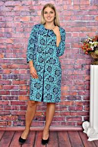 Платье короткое деловое с принтом Т5958