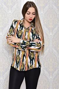 Рубашка с длинным рукавом с принтом С8142