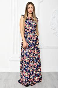 Платье длинное летнее с принтом Т1836