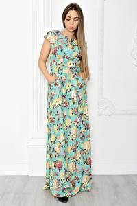 Платье длинное летнее с принтом Т1837