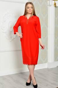 Платье длинное вечернее красное Р3285