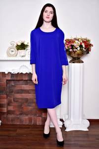 Платье длинное зимнее синее Р8913