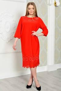 Платье длинное вечернее красное Р3286
