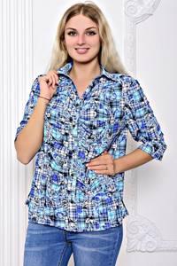 Рубашка с принтом с коротким рукавом С8920