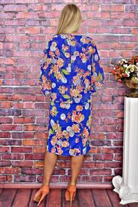 Платье длинное летнее с принтом Т5882